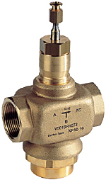 Three Way Control Valve Pn16 Threaded Connections Dn15 50